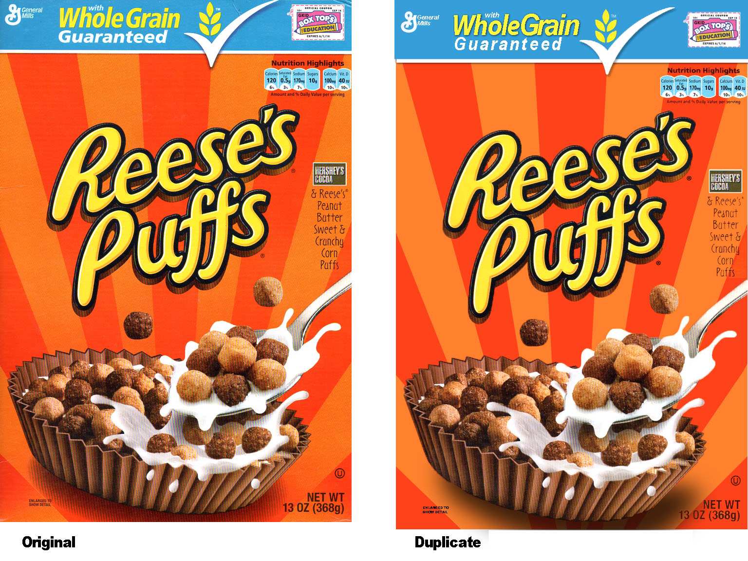 reeses puffs cereal duplicate